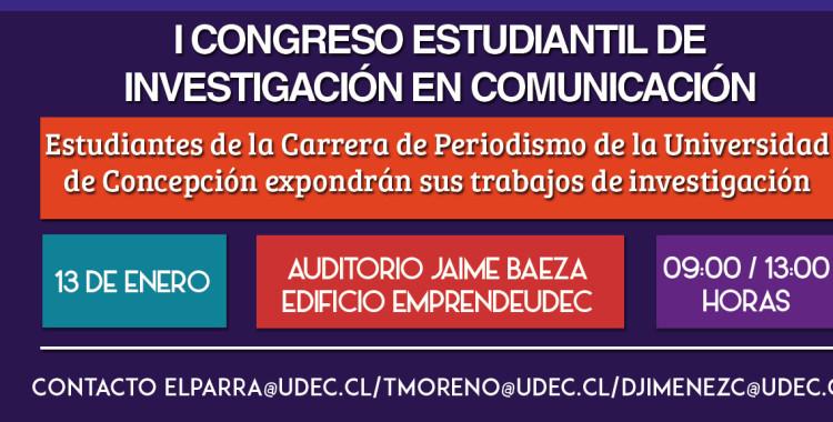 Este martes se realizará el Primer Congreso Estudiantil de Investigación en Comunicación en la UdeC
