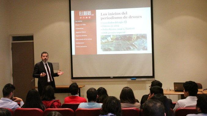 Director del medio digital El Líbero participó en workshop sobre el uso de drones en Periodismo